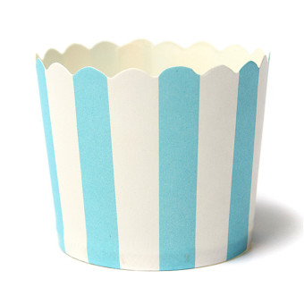 Harga 50Pcs Paper Cake Cup Cupcake Cases Liners Muffin Dessert Baking Blue and white striped