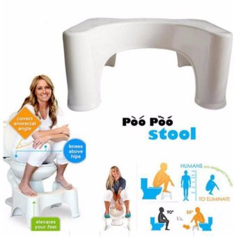Harga Bathroom Toilet Stool Bench for Adults & Child Squatting Height 21cm Prevent Constipation Hemorrhoids Aid - intl