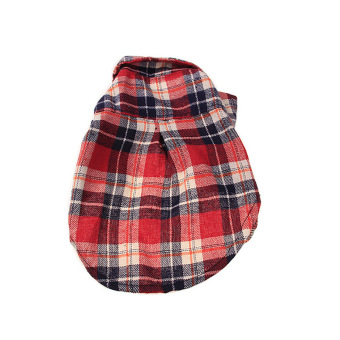 Harga Cute Teddy Dog Puppy Plaid Shirt Lapel Coat Jacket Clothes Apparel Costume red&M