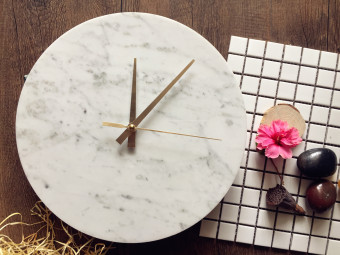 Harga Italy imported marble clock dial clock wall clock modern minimalist living room home factory direct shipping