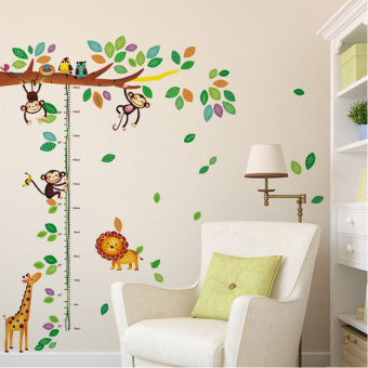 Harga Wall sticker decoration wallpaper adhesive wall paper children's room kindergarten cute cartoon animal height stickers