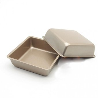 Harga JER FASHION 1pcs 4' Small non-stick baking Pan square baking oven cake bread mold food grade FDA - Intl