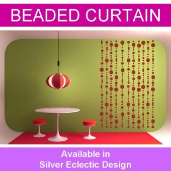 Harga Eclectic Silver Bubbles Beaded Doorway Curtain