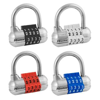 Harga Master Lock 1523D 2-1/2in (64mm) Wide Set Your Own Combination Padlock with Colored Dials; Assorted Colors