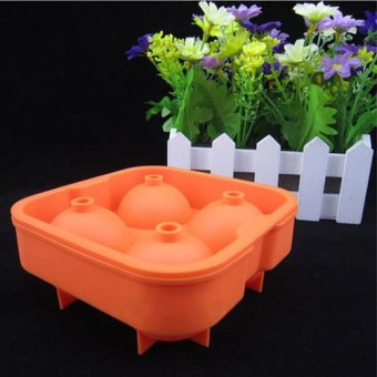 Harga Okdeals Ice Ball Mold Cube Maker Round Tray Mould Orange