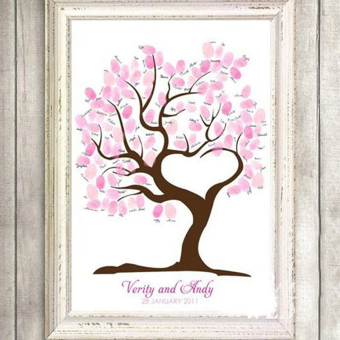 Harga Large Personalised Wedding Fingerprint / Thumbprint Tree- Alternative Guest Book 1725