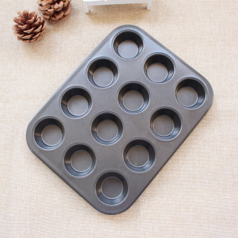Harga Cake mold 12 even cake mold muffin cup muffin pan home nonstick baking mold muffin cups mould