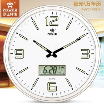 Harga Overlord modern minimalist circular living room bedroom wall clock luminous watches and clocks calendar clock silent pocket watch