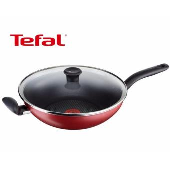Harga Tefal 30cm Pure Chef Deep Wok Pan with Lid C61794