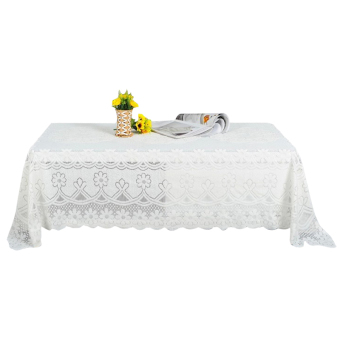Harga PAlight Embroidery Lace Tablecloth (90*160cm Rectangle)
