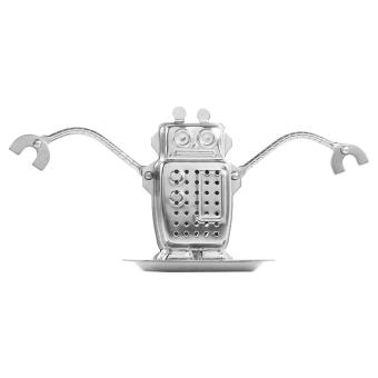 Harga Stainless Steel Loose Tea Leaf Infuser Ball Strainer Filter Diffuser Herbal Spice Robot Shape - intl