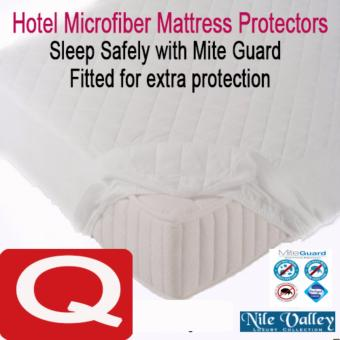 Harga Nile Valley's Hotel Microfiber Fitted Mattress Protector. Sleep Safely