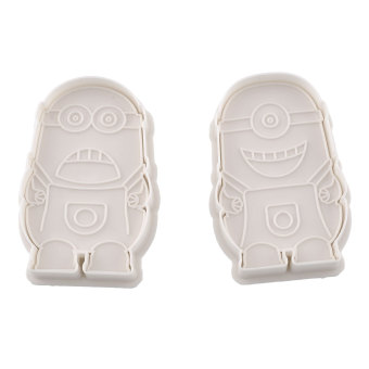 Harga 2pcs Minions Cake Soap Plunger Cutter Mold Biscuit Cookies Mould Baking - intl