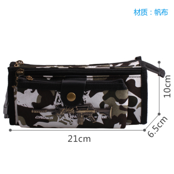 Harga Despair cracking primary school students pencil case boys boy camouflage with lock password lock stationery bags canvas pencil case for children