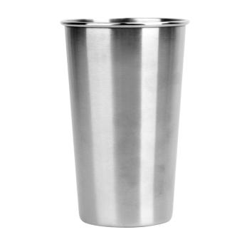 Harga 500ML Stainless Steel Cups 16oz Tumbler Pint Glasses Metal Cups - intl