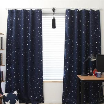 Harga Blackout Thermal Solid Window Curtai Dark blue