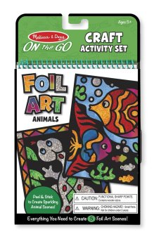 Harga Melissa and Doug ON the GO Craft Foil Art Animals