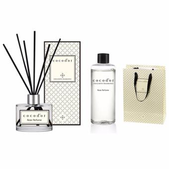 Cocodor Aroma Reed Diffuser Rose Perfume 200ml Diffuser + 200ml Refill + 10 Reed Sticks - intl Price in Singapore