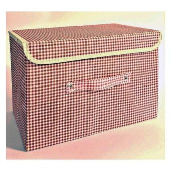 Non-Woven Storage Box with Lid - Brown