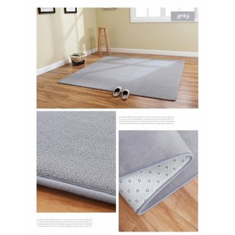 Harga Super Comfortable Anti-slip Area Rugs Floor Mat Cover Carpets for Living Room Bedroom Nursery Teens Home Decorate 4-Feet By 5-Feet / 120cm x 160cm (Grey) - intl