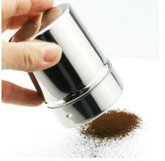 Harga Dusters 304 stainless steel powder extinguishers cocoa powder coffee sprinkle seasoning powder of fine mesh tank style barrel bottle