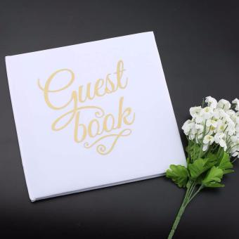 Harga White Wedding Guestbook Custom Names Alternative - intl