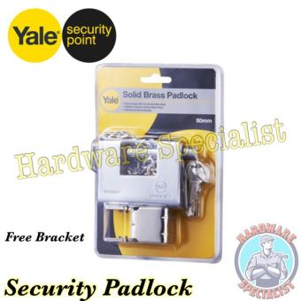 Harga Yale Solid Brass Security Pad Lock 80mm