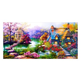 "Harga ""MEGA DIY 5D Diamond Painting Embroidery Kits Garden Cottage Design"