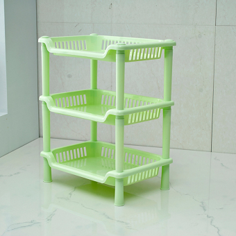 Harga 3 layers rectangle bathroom kitchen shelf rack stroage