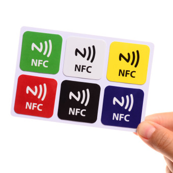 Harga 6x NTAG216 Chip 888 Bytse Writeable Programmable NFC Smart Tags for Smart Phone NEW - intl