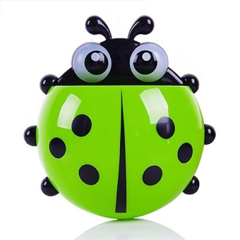 Harga PAlight Cute Cartoon Ladybug Sucker Tooth Brush Holder (green)