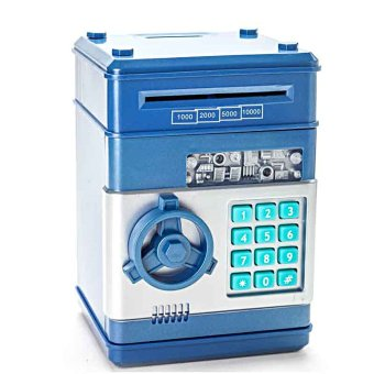 Harga ATM Bank Safe for Coins and Bills (Blue)