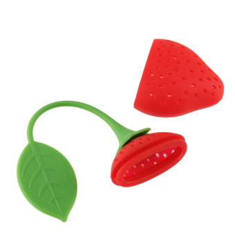 Harga Lovely Fruit Strawberry Shape Silicone Tea Herbal Spices Leaf Infuser Strainer