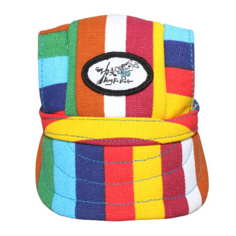 Harga Canvas Summer Small Pet Dog Cat Baseball Visor Hat Puppy Cap Outdoor Sunbonnet(Export)