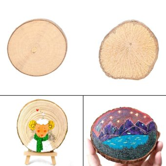 Harga 100Pcs Rustic Natural Handmade Round Wooden Slice Decoration - intl