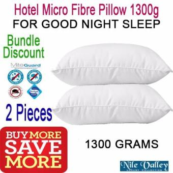 Harga Nile Valley's 2 Pieces Hotel Micro Fibre Pillow 1300g. Used in 5 star hotels
