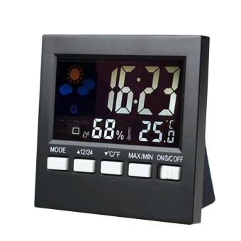 Harga LCD Indoor Electronic Temperature Humidity Meter Clock - intl