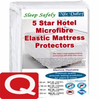 Nile Valley's 5 Star Hotel Micro Fibre Mattress Protector with Mite Guard. Sleep Safely