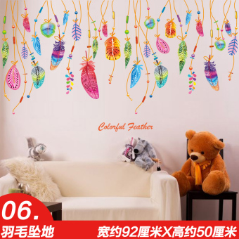 Harga Cartoon cute baby children's room kindergarten classroom layout decorative products wall stickers self-adhesive wallpaper stickers