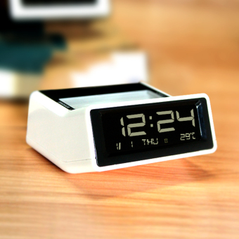 Harga Black and white classic led electronic clock creative cute alarm clock backlight mute clock bedside alarm clock students personality