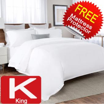 Harga Nile Valley 1600 Thread Count 5 Star Hotel Egyptian Cotton Fitted Set with FREE Mattress Protector