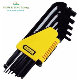 Harga Professional hand tools! Stanley 12 pcs Allen Wrench Flat Point Hex Key Set ,Screw drive key !