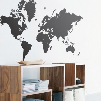 Harga MC Map of the World Wall Sticker Decal Vinyl Art Sticker Home Decor - intl