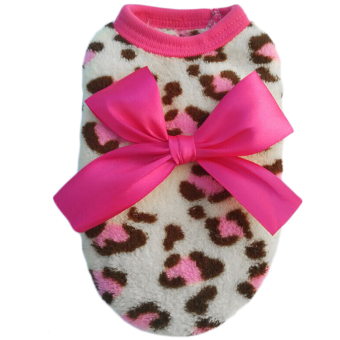 Harga OH New Pet Dog Puppy Cat Winter Leopard Clothes Cute T-Shirt Soft Warm Coat 8