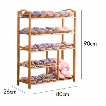 Harga Wooden Shoe Rack -Odaf (5 Tier)