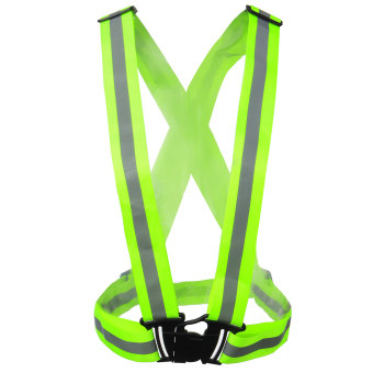 Harga Security Safety Reflective Vest Belt Stripe Night Working Running Jogging Biking Green Color
