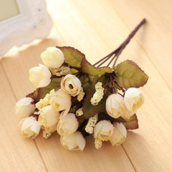 Harga 15 Flower Heads Artificial Camellia Flowers Floral Peony Decoration Decor - intl