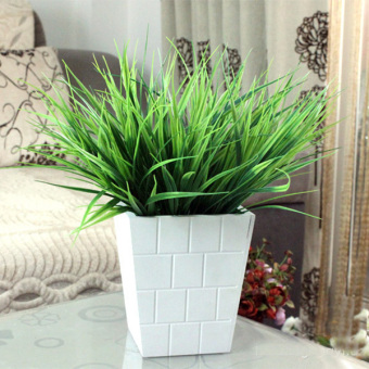 Harga Green Plants Decor Floral Leaves Orchid Party Garden Artificial Plant - intl