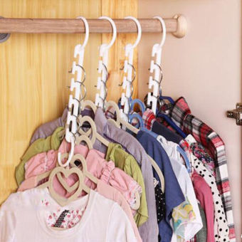 Harga 1pcs Space Saver Magic Hanger Wonder Clothes Rack Clothing Hook Organizer - intl