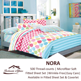 Harga MICROFINE Nora Fitted Sheet Set